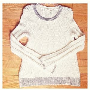 Anthropologie MOTH Ivory Long Sleeves Sweater M
